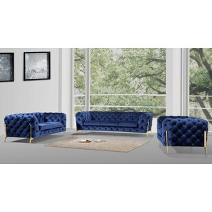 Perdita 3 Piece Living Room Set by Everly Quinn