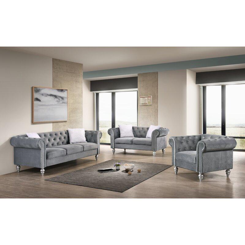 Tena 3 Piece Living Room Set