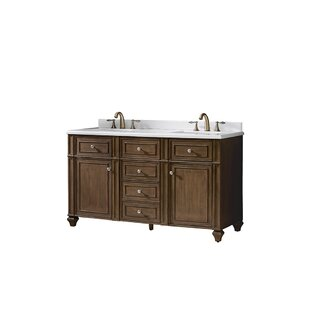 Paulita 60 Double Bathroom Vanity Set by Ove Decors