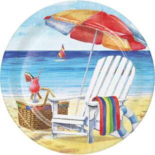 Breezy Beach Paper Disposable Dessert Plate (Set of 24)