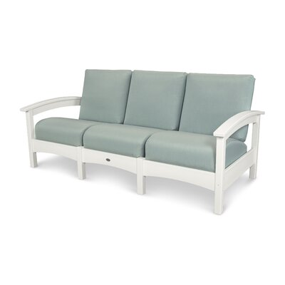 Trex Outdoor Rockport Club Sofa Colour: Classic White / Spa