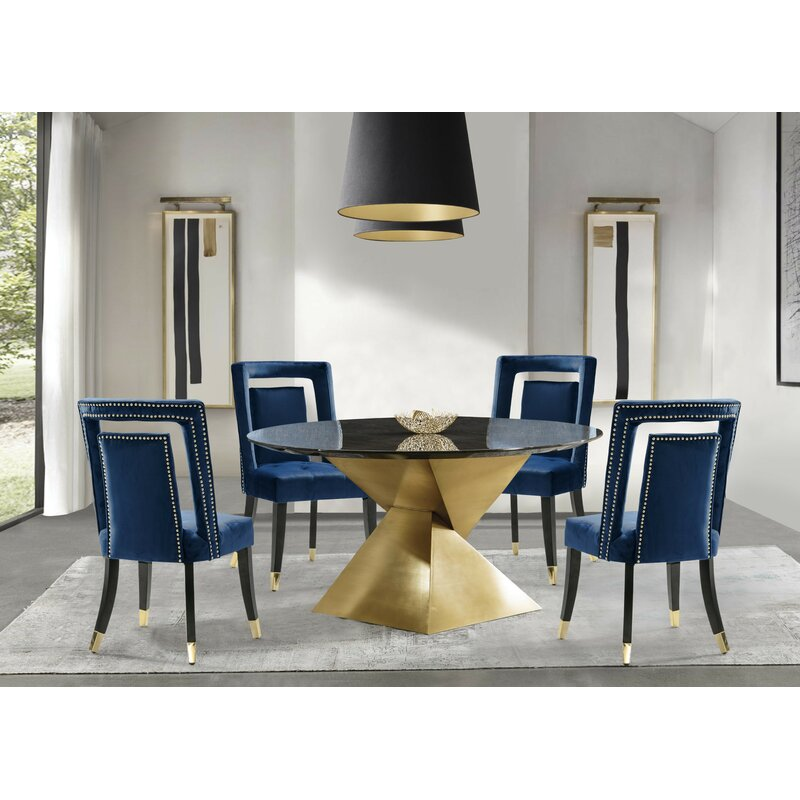 Everly Quinn Durrant Upholstered Dining Chair Reviews Wayfair