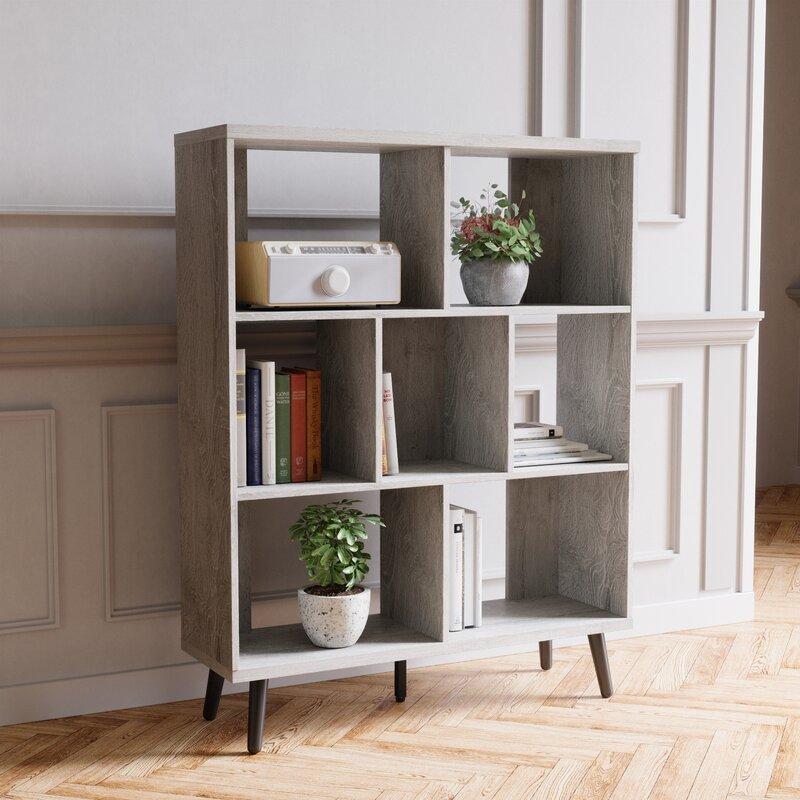 George Oliver Cube Bookcase Mid-Century Bookshelf Modern Display