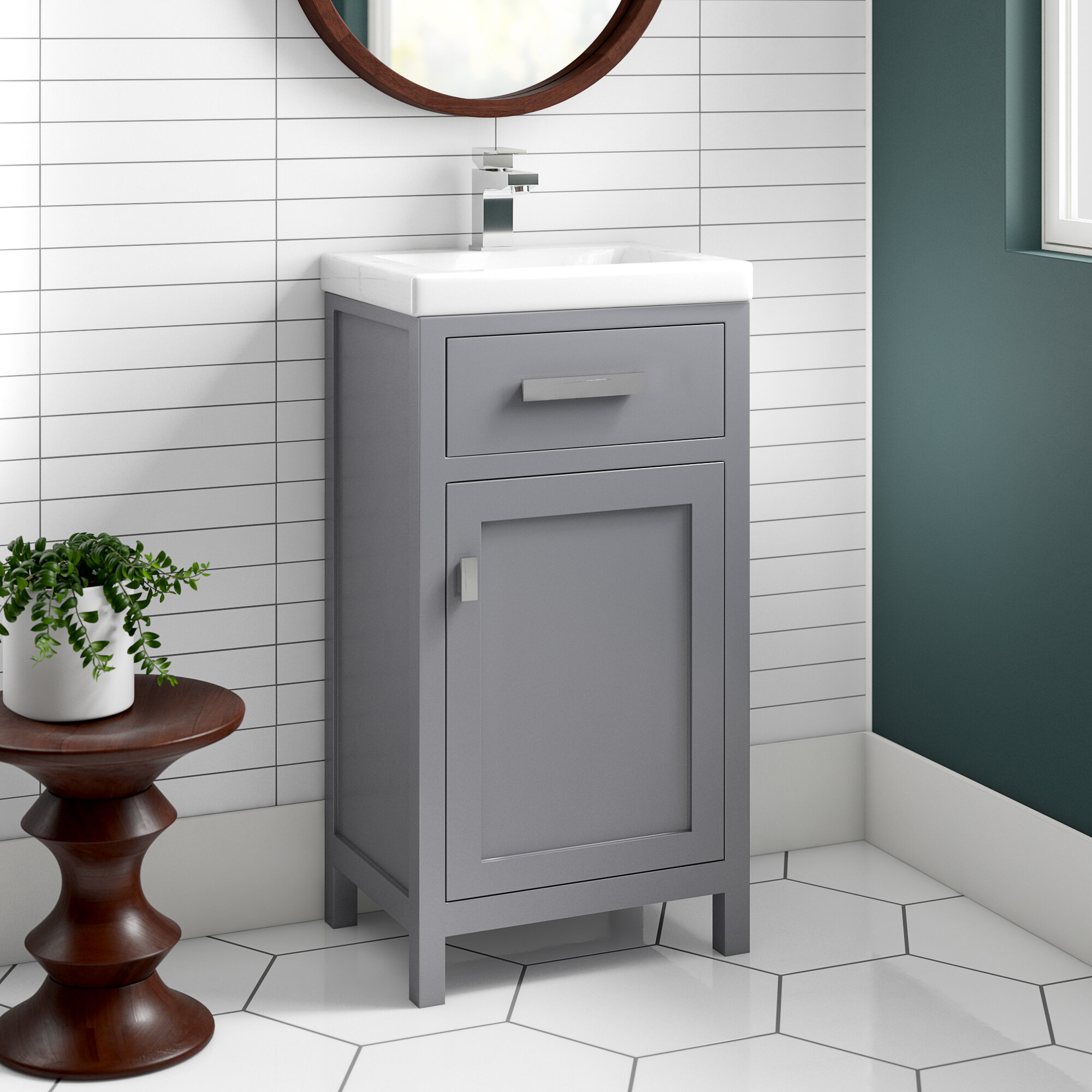 Elyssa 18 Single Bathroom Vanity Set