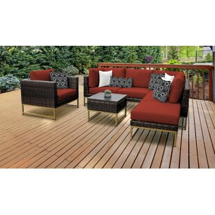 Barcelona 7 Piece Sectional Seating Group with Cushions