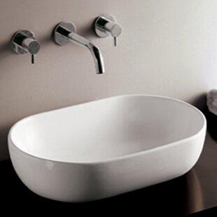 Whitehaus Collection Isabella Ceramic Oval Vessel Bathroom Sink