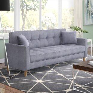 Corn Modern Linen Fabric Tufted Small Space Sofa