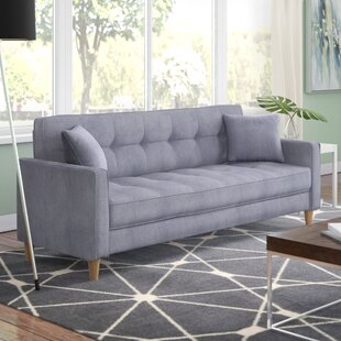Wooler Modern Linen Fabric Tufted Small Space Sofa