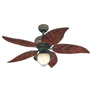Ceiling Fans With Leaf Blades Palm leaf ceiling fan wayfair 48 soltero 5 reversible blade ceiling fan audiocablefo