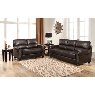 Abbyson Living Tuscany 2 Piece Leather Li..