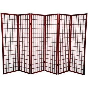 Read Reviews Marissa Shoji 6 Panel Room Divider ByWorld Menagerie