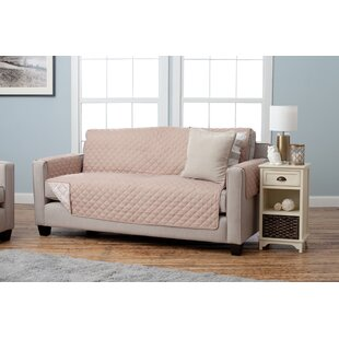 Shop Adalyn Diamond Geo Box Cushion Sofa Slipcover by Home Fashion Designs