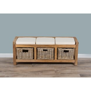 Review Alyson Wood Storage Bench