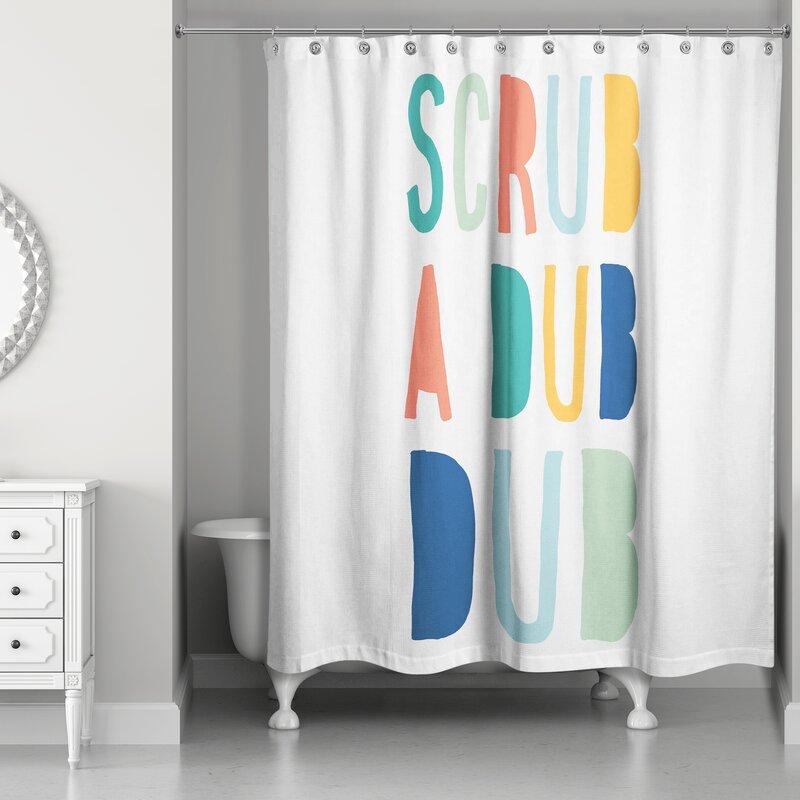 New Nike Just Do It Wave Ocean Custom Print Waterproof Fabric Shower Curtain