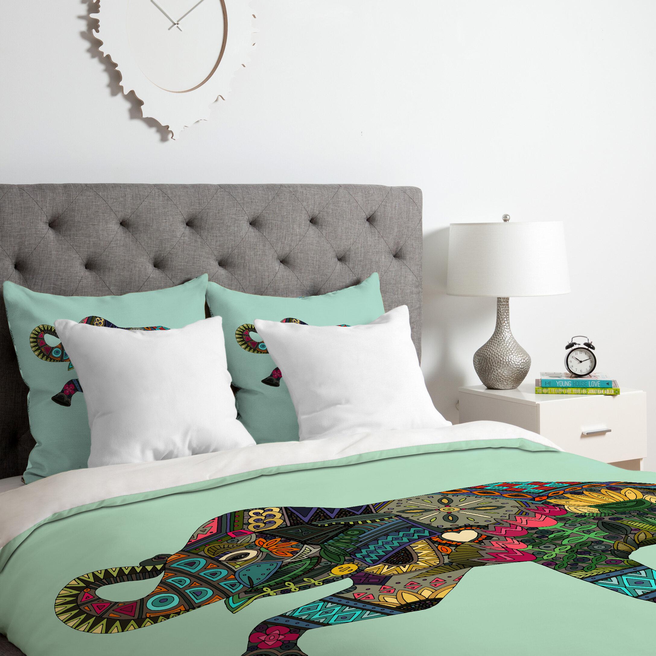 Bungalow Rose Allegany Elephant Duvet Cover Set Wayfair