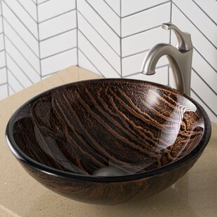 Gaia Glass Circular Vessel Bathroom Sink ByKraus