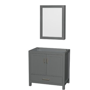 Sheffield 36 Single Bathroom Vanity Base with Medicine Cabinet by Wyndham Collection
