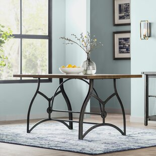 Amalda Wood and Metal Dining Table & Industrial Kitchen \u0026 Dining Tables You\u0027ll Love | Wayfair