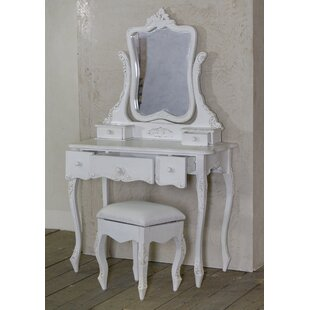 Reneau Dressing Table And Stool By Fleur De Lis Living