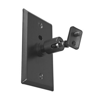Universal Speaker WallCeiling Mount with Electrical Box Installation Adapter Plate in Black
