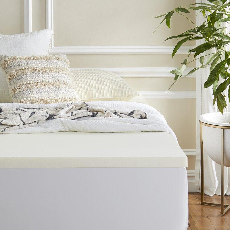 Sleep Innovations 2 Memory Foam Mattress Topper Reviews Wayfair