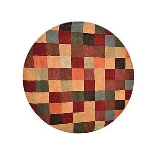 Tullos Carpet Hand Tufted Wool Green Red Area Rug