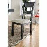 Rizwan Ladder Back Side Chair in Wire-Brushed Black (Set of 2) by Gracie Oaks