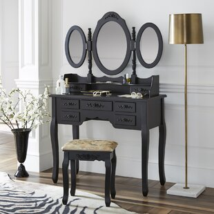 House of Hampton Parma Vanity Set with Mirror
