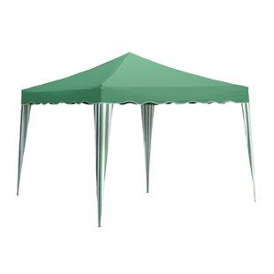 SunTime Outdoor Living Green 6 Ft. W x 10 Ft. D Steel Pop-Up Canopy