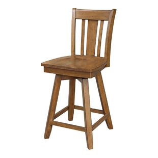 Russell 24 Swivel Bar Stool by Loon Peak Spacial Price
