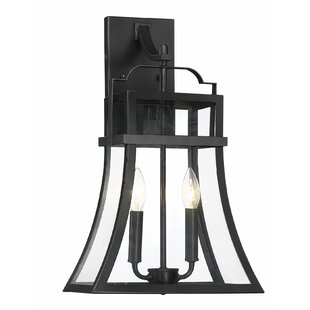 Gracie Oaks Kaniel 2-Light LED Outdoor Wall Lantern