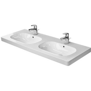 D-Code Ceramic 7 Wall Mount Bathroom Sink with Overflow Duravit