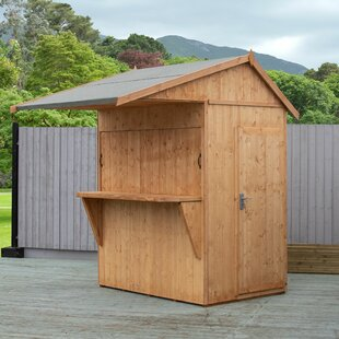 6 Ft. W X 4 Ft. D Shiplap Reverse Apex Wooden Shed By WFX Utility