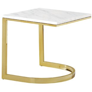 Everly Quinn Brookside Marble End Table