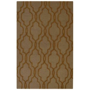 Baxter Springs Hand-Tufted Wool Brown Area Rug