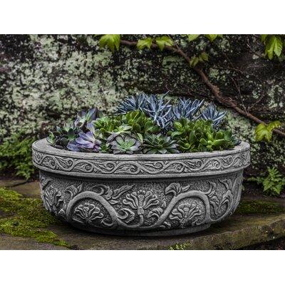Kaven Cast Stone Pot Planter Astoria Grand Color: Verde
