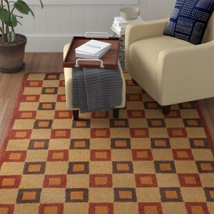 Armstrong Ivory / Rust Contemporary Rug By Winston Porter