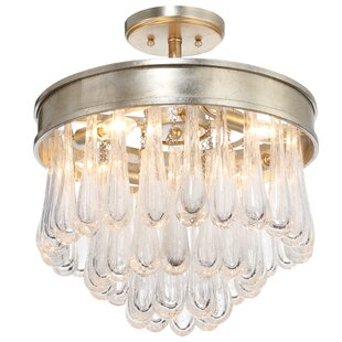 Gehring 4-Light Semi Flush Mount by Everly Quinn