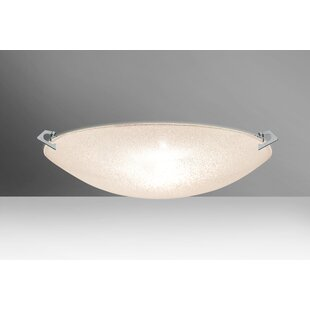 Besa Lighting Sonya 3-Light Outdoor Flush Mount