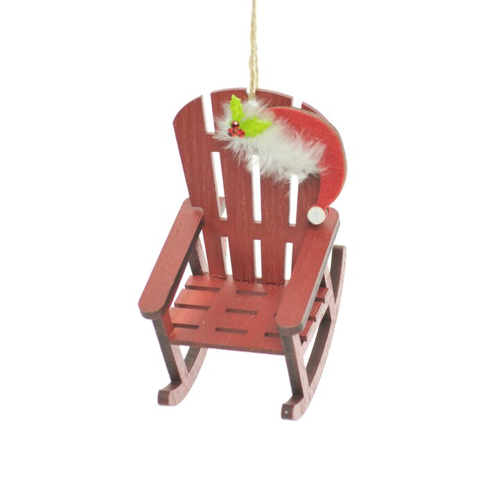 Pleasant Red Rocking Chair Holiday Shaped Ornament Machost Co Dining Chair Design Ideas Machostcouk