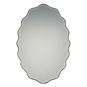 Oval Shape Beveled Front Wall Mirror