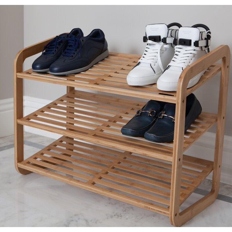 9 Pair Stackable Shoe Rack