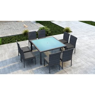 Orren Ellis Gilleland 9 Piece Dining Set with Sunbrella Cushion