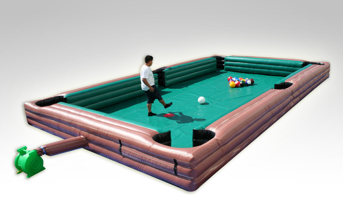 EZInflatables 17' x 30' Inflatable Billiard with Balls and Air