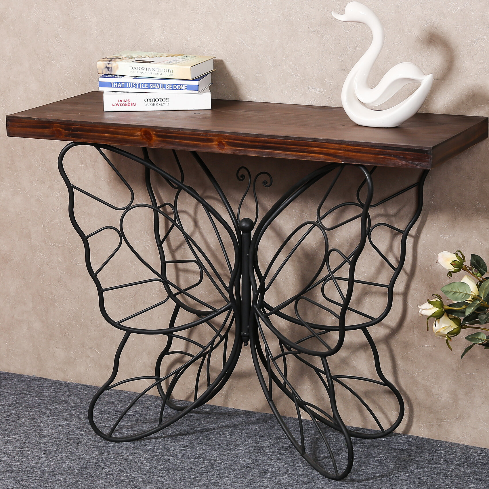 big sale ee1c6 0ae86 Shiela Butterfly Console Table