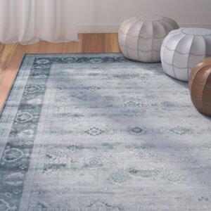 Makenna Light Blue/Dark Blue Area Rug