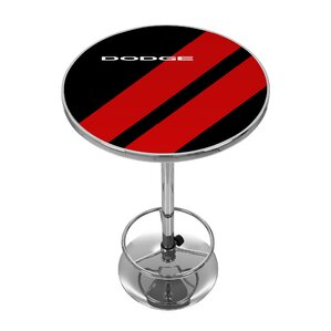 Dodge Big Stripe Pub Table by Trademark Global