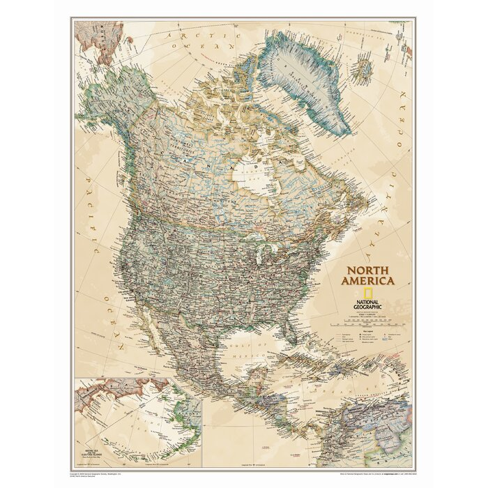 North America Executive Wall Map