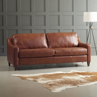 Jesper Leather Sofa by DwellStudio