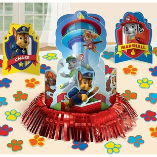Paw Patrol Paper/Plastic Disposable Table Decoration Kit